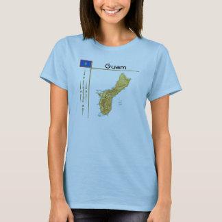 Guam Map + Flag + Title T-Shirt