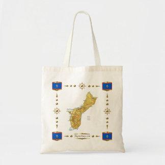 Guam Map + Flags Bag