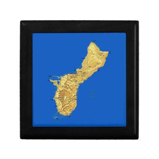 Guam Map Gift Box