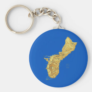 Guam Map Keychain