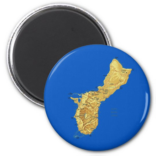 Guam Map Magnet