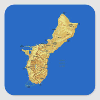 Guam Map Sticker