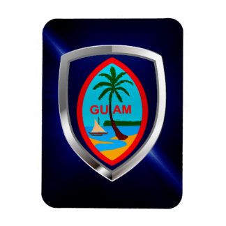 Guam Mettalic Emblem Magnet