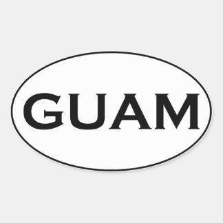 GUAM OVAL STICKER