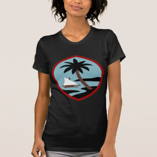 Guam Palm tree and beach peace calm joy T-Shirt