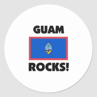 Guam Rocks Classic Round Sticker