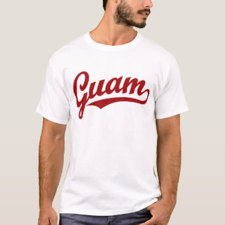 Guam script logo in red T-Shirt