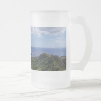 Guam Seti Bay Frosted Glass Beer Mug