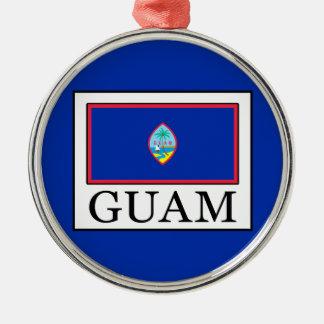 Guam Silver-Colored Round Decoration