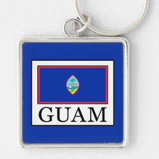 Guam Silver-Colored Square Key Ring