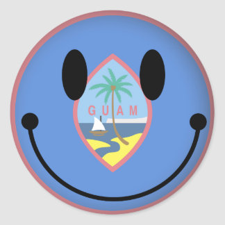 Guam Smiley Classic Round Sticker