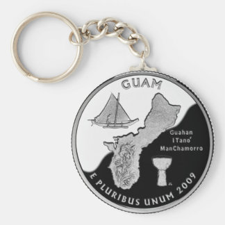 Guam state quarter key ring