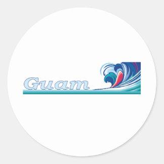 Guam Round Sticker