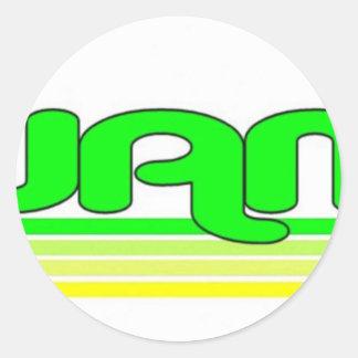 Guam Round Stickers