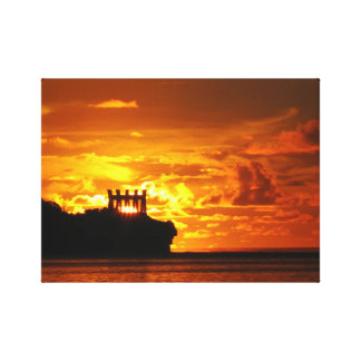 Guam sunsets stretched canvas print