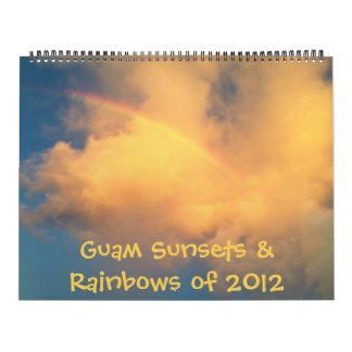 Guam Sunsets & Rainbows of 2012 (2013 calendar) Calendars