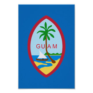 Guamanian  coat of arms poster