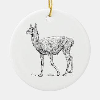 Guanaco Christmas Ornament