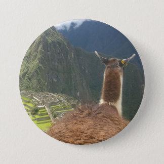 Guanaco General Maccu Piccu 7.5 Cm Round Badge