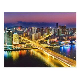 Guangzhou China's Nightlife Postcard