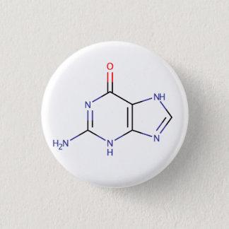 Guanine Molecule 3 Cm Round Badge