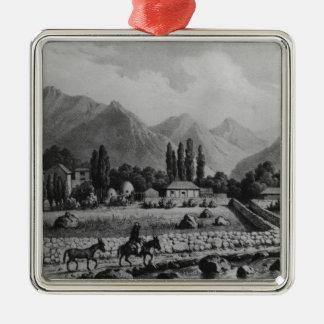 Guanta , from 'Historia de Chile', 1854 Silver-Colored Square Decoration