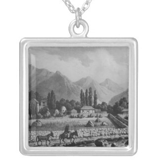 Guanta , from 'Historia de Chile', 1854 Silver Plated Necklace