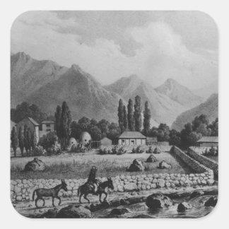 Guanta , from 'Historia de Chile', 1854 Square Sticker