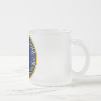 Guantanamo Bay, Cuba Frosted Glass Mug