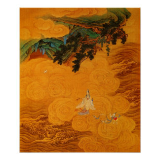 Guanyin in the Tidal Sound cave at Mt Potala Poster