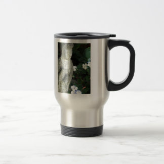 Guanyn Surrounded by White Impatiens Stainless Steel Travel Mug