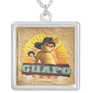 Guapo Gato Square Pendant Necklace