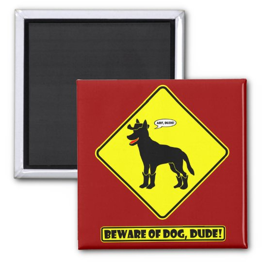 GUARD DOG-23 SQUARE MAGNET