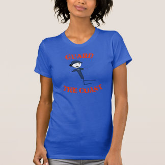 """Guard The Coast"" Women's T-Shirt (Orange Text)"