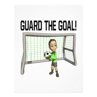 Guard The Goal Custom Flyer