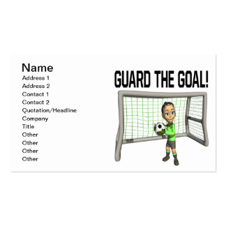 Guard The Goal Pack Of Standard Business Cards