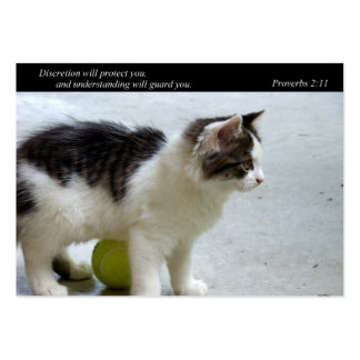 Guard You (Cat) Business or Calling Cards Business Card Template
