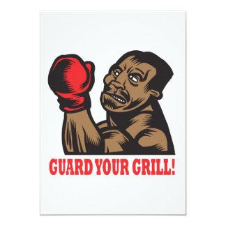 Guard Your Grill 13 Cm X 18 Cm Invitation Card