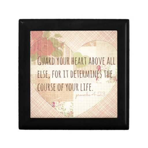 Guard Your Heart - Proverbs 4:23 Trinket Box