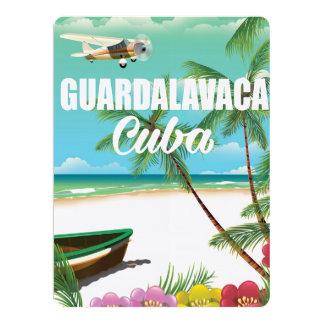 Guardalavaca beach vacation poster 17 cm x 22 cm invitation card