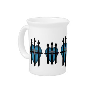 Guarded heart beverage pitchers