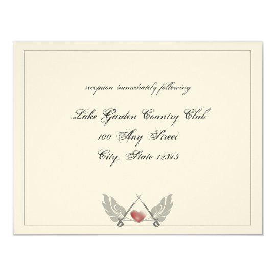 Guarded Heart Wedding reception Card