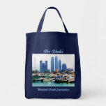 Guarded Marina Grocery Tote Bag