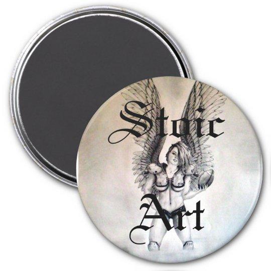 Guardian 1 , Stoic, Art 7.5 Cm Round Magnet