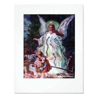 "GUARDIAN ANGEL 3 4.25"" X 5.5"" INVITATION CARD"