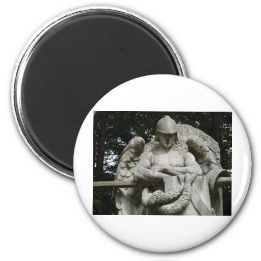 Guardian Angel 3 6 Cm Round Magnet
