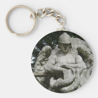 Guardian Angel 3 Basic Round Button Key Ring