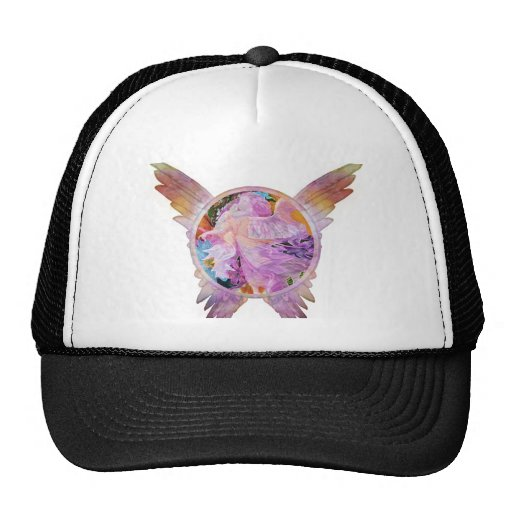 guardian angel and angel wings mesh hats