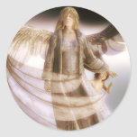 Guardian Angel and Child Classic Round Sticker