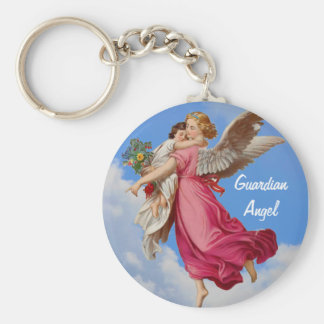 Guardian Angel And Child Inspirational Keychain